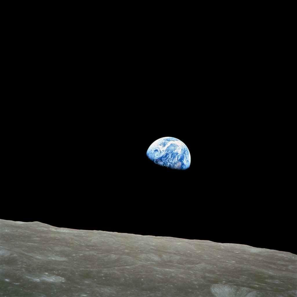 Planète terre vue de la lune